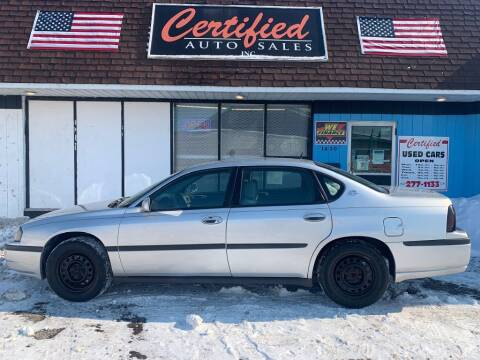 2005 Chevrolet Impala for sale at Certified Auto Sales, Inc in Lorain OH