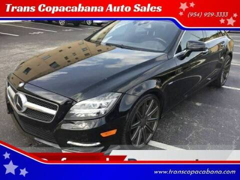 2012 Mercedes-Benz CLS for sale at Trans Copacabana Auto Sales in Hollywood FL