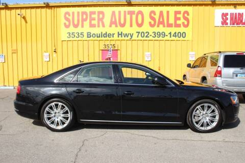 2012 Audi A8 for sale at Super Auto Sales in Las Vegas NV
