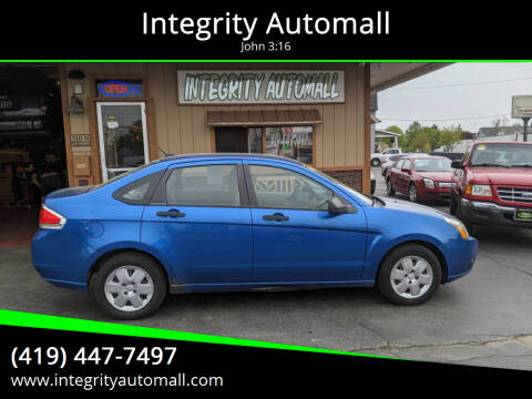 2010 Ford Focus for sale at Integrity Automall in Tiffin OH