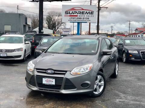 2013 Ford Focus for sale at Supreme Auto Sales in Chesapeake VA