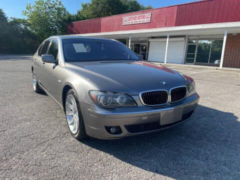2006 BMW 7 Series for sale at Certified Motors LLC in Mableton GA