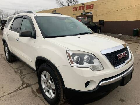 2010 GMC Acadia for sale at City Auto Sales in Roseville MI