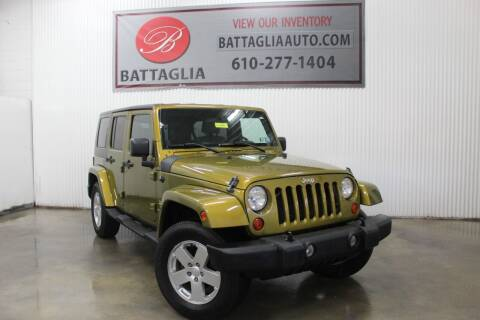 2007 Jeep Wrangler Unlimited for sale at Battaglia Auto Sales in Plymouth Meeting PA