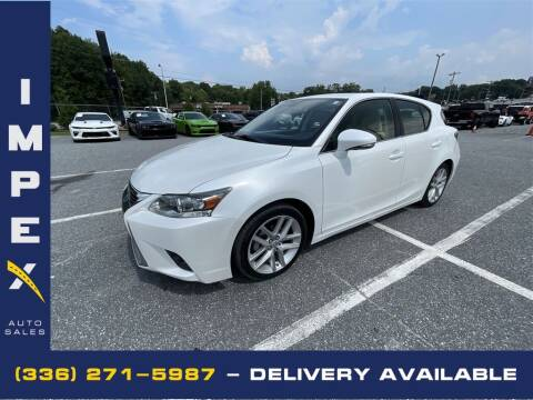 2014 Lexus CT 200h for sale at Impex Auto Sales in Greensboro NC