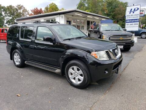 2010 Nissan Pathfinder for sale at Highlands Auto Gallery in Braintree MA