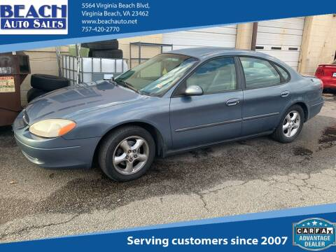 2002 Ford Taurus for sale at Beach Auto Sales in Virginia Beach VA