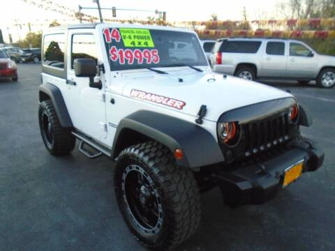 2014 Jeep Wrangler for sale at River City Auto Sales in Cottage Hills IL