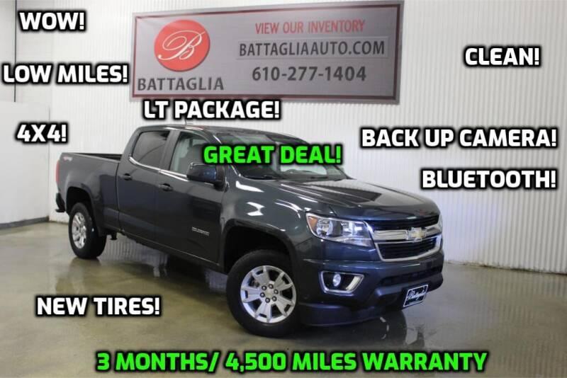 2017 Chevrolet Colorado for sale at Battaglia Auto Sales in Plymouth Meeting PA