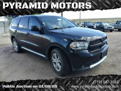 2013 Dodge Durango for sale at PYRAMID MOTORS - Pueblo Lot in Pueblo CO