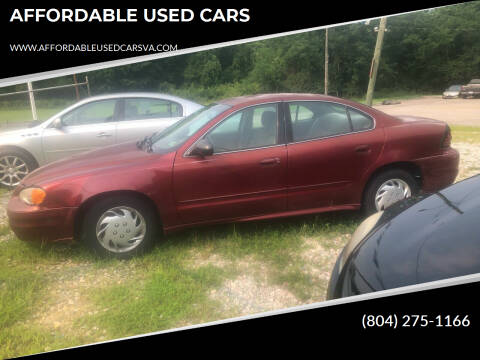 2003 Pontiac Grand Am for sale at AFFORDABLE USED CARS in Richmond VA
