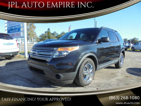 2013 Ford Explorer for sale at JPL AUTO EMPIRE INC. in Auburndale FL