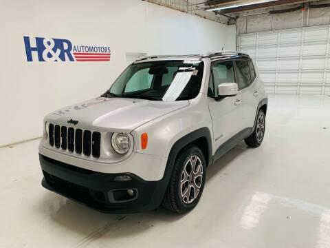 2016 Jeep Renegade for sale at H&R Auto Motors in San Antonio TX
