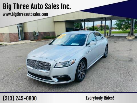 2014 Lincoln MKZ for sale at Big Three Auto Sales Inc. in Detroit MI