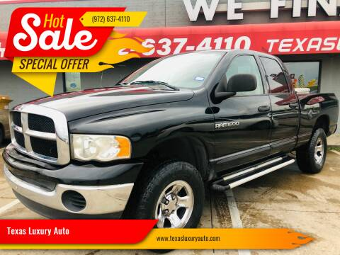 2005 Dodge Ram Pickup 1500 for sale at Texas Luxury Auto in Cedar Hill TX