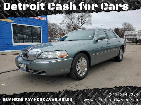 2005 Lincoln Town Car for sale at Detroit Cash for Cars in Warren MI