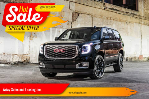 2019 GMC Yukon for sale at Ariay Sales and Leasing Inc. in Denver CO