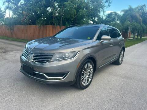 2016 Lincoln MKX for sale at Venmotors Hollywood in Hollywood FL