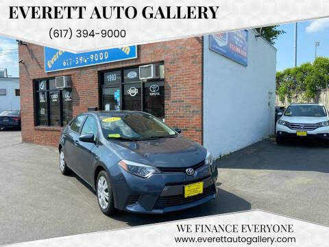 2015 Toyota Corolla for sale at Everett Auto Gallery in Everett MA