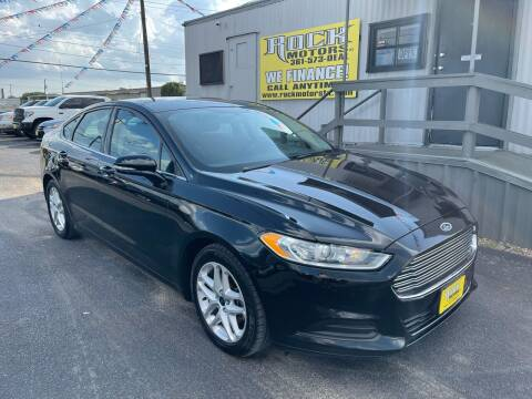 2016 Ford Fusion for sale at Rock Motors LLC in Victoria TX