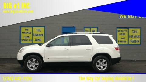 2010 GMC Acadia for sale at BIG #1 INC in Brownstown MI