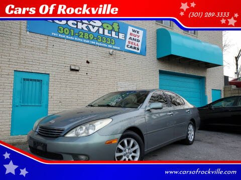 2002 Lexus ES 300 for sale at Cars Of Rockville in Rockville MD