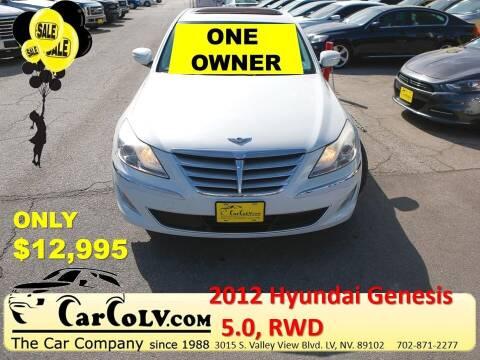 2012 Hyundai Genesis for sale at The Car Company in Las Vegas NV