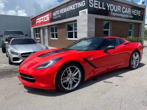 2016 Chevrolet Corvette for sale at Auto Remarketing Group in Pompano Beach FL