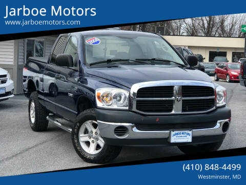 2008 Dodge Ram Pickup 1500 for sale at Jarboe Motors in Westminster MD