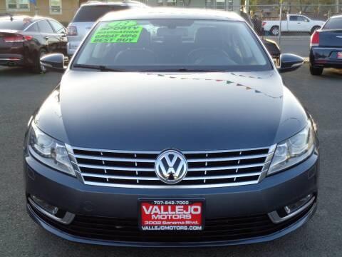 2013 Volkswagen CC for sale at Vallejo Motors in Vallejo CA