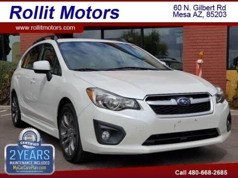 2014 Subaru Impreza for sale at Rollit Motors in Mesa AZ