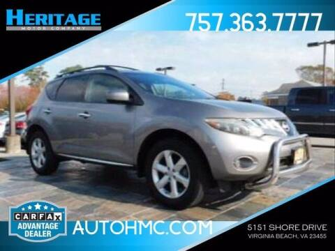 2009 Nissan Murano for sale at Heritage Motor Company in Virginia Beach VA