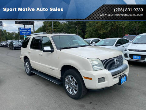 2007 Mercury Mountaineer for sale at Sport Motive Auto Sales in Seattle WA