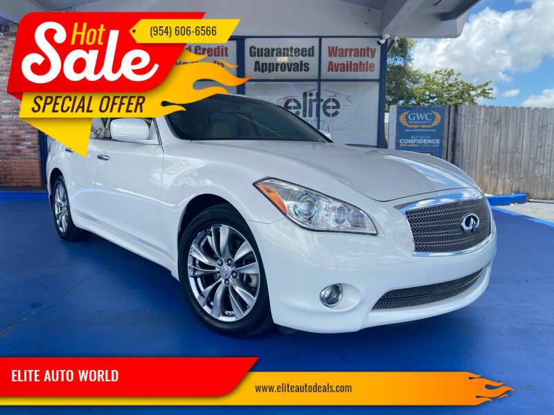 2012 Infiniti M37 for sale at ELITE AUTO WORLD in Fort Lauderdale FL