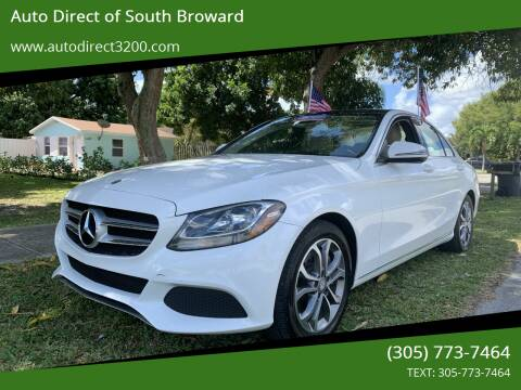 2017 Mercedes-Benz C-Class for sale at Auto Direct of South Broward in Miramar FL