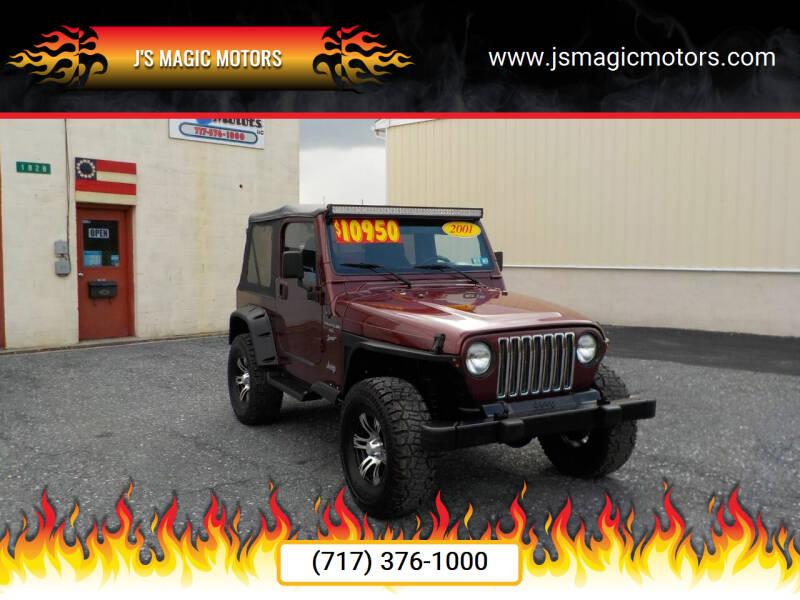 2001 Jeep Wrangler for sale at J'S MAGIC MOTORS in Lebanon PA