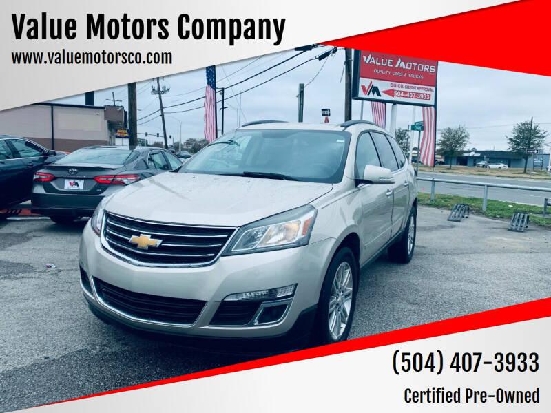 2015 Chevrolet Traverse for sale at Value Motors Company in Marrero LA
