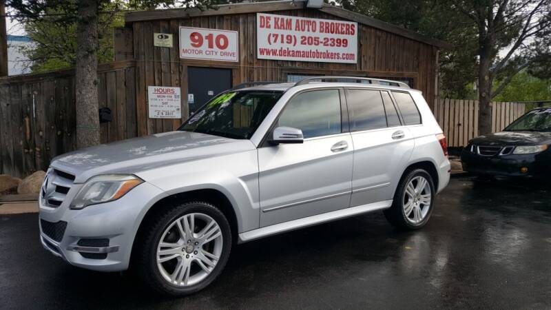 2013 Mercedes-Benz GLK for sale at De Kam Auto Brokers in Colorado Springs CO