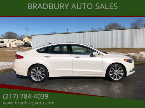 2017 Ford Fusion for sale at BRADBURY AUTO SALES in Gibson City IL