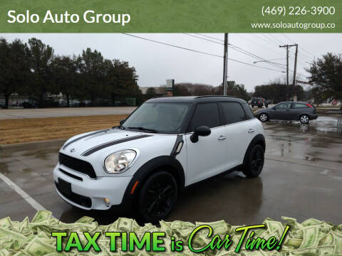 2013 MINI Countryman for sale at Solo Auto Group in Mckinney TX