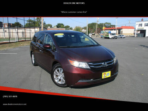 2015 Honda Odyssey for sale at DEALER ONE MOTORS in Malden MA
