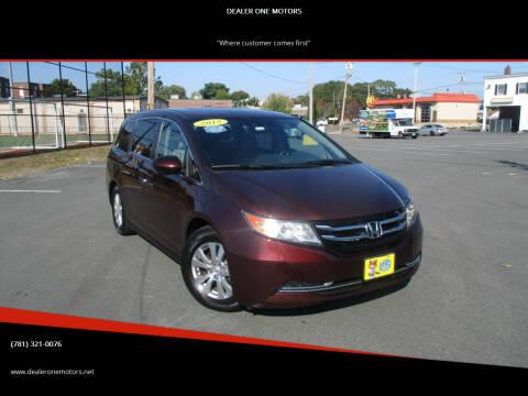 2015 Honda Odyssey for sale at DEALER ONE MOTORS in Malden MA