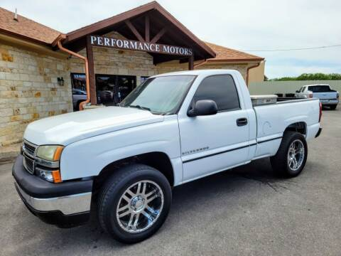 2007 Chevrolet Silverado 1500 Classic for sale at Performance Motors Killeen Second Chance in Killeen TX