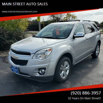 2010 Chevrolet Equinox for sale at MAIN STREET AUTO SALES in Neenah WI