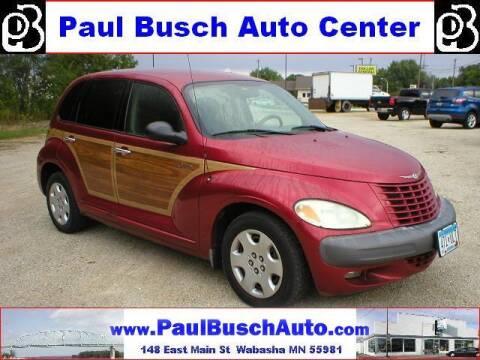 2002 Chrysler PT Cruiser for sale at Paul Busch Auto Center Inc in Wabasha MN