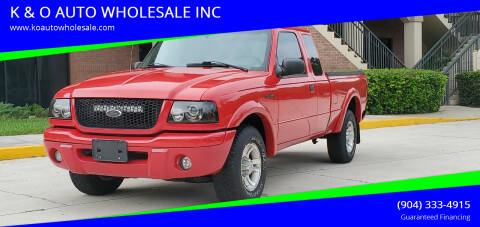 2003 Ford Ranger for sale at K & O AUTO WHOLESALE INC in Jacksonville FL