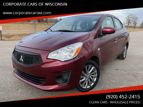 2018 Mitsubishi Mirage G4 for sale at CORPORATE CARS OF WISCONSIN - DAVES AUTO SALES OF SHEBOYGAN in Sheboygan WI