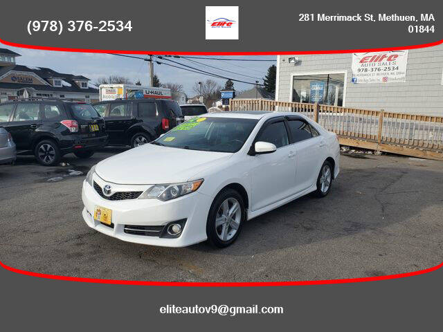 2012 Toyota Camry for sale at ELITE AUTO SALES, INC in Methuen MA