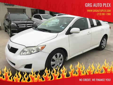 2010 Toyota Corolla for sale at GRG Auto Plex in Houston TX