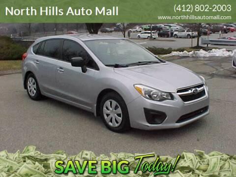 2012 Subaru Impreza for sale at North Hills Auto Mall in Pittsburgh PA